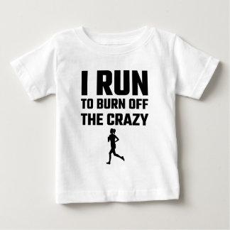 I熱狂するの燃焼させるために走られる ベビーTシャツ