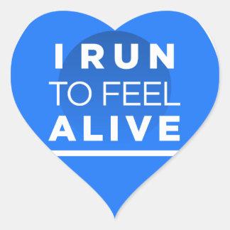 I生きた感じるために走られる-インスピレーションを走ること ハートシール