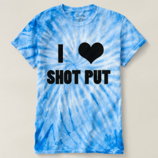 I砲丸投げハート砲丸投げ投げる人のワイシャツ Tシャツ