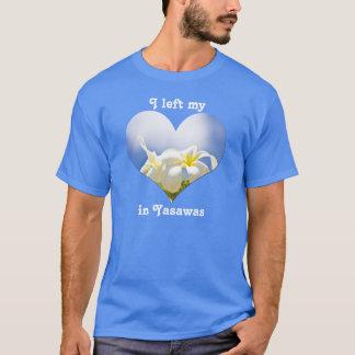 I私のハートのYasawasフィージーのプルメリアのFrangipaniを残しました Tシャツ