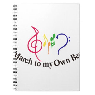 I私の専有物への3月ビート ノートブック