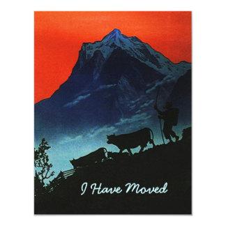 I私達は移動動かされた高山の牧夫のTranshumanceを有します カード