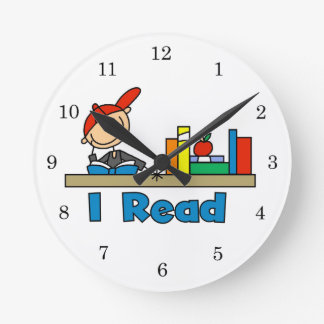 I読まれる ラウンド壁時計