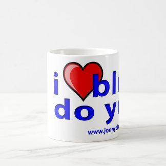 I青いハート-マグ コーヒーマグカップ