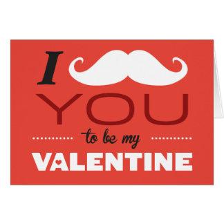 I髭私のバレンタインの挨拶状がある カード