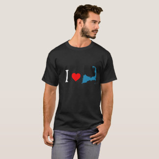 I ♥のハートのケープコッドのTシャツ Tシャツ