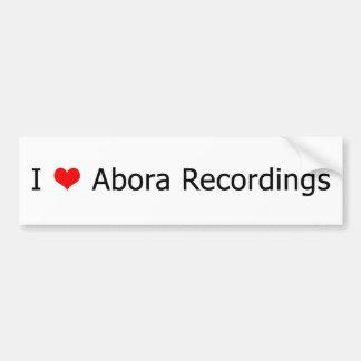 I ♥のAboraの録音のバンパーステッカーの白1 バンパーステッカー