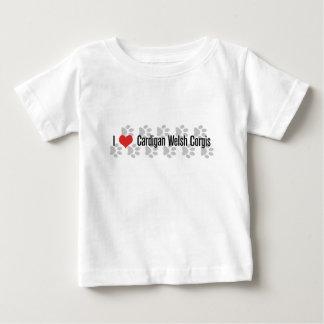 I (ハートの)カーディガンのウェールズのコーギー ベビーTシャツ