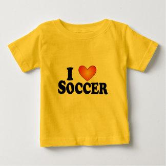 I (ハートの)サッカー-ライト数々のプロダクトTシャツ ベビーTシャツ