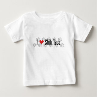 I (ハートの)シーズー(犬) Tzus ベビーTシャツ