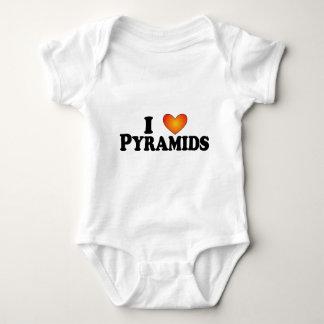 I (ハートの)ピラミッド-ライト数々のプロダクト ベビーボディスーツ