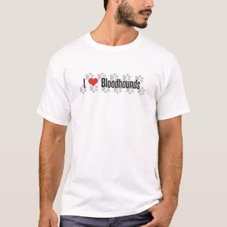 I (ハートの)ブラッドハウンド Tシャツ