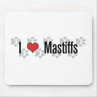 I (ハートの)マスティフ マウスパッド