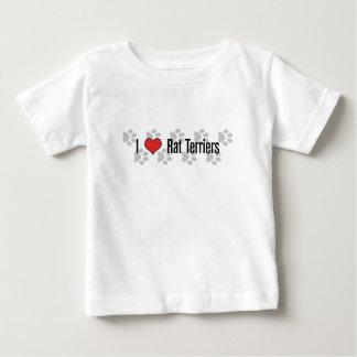 I (ハートの)ラットテリア ベビーTシャツ