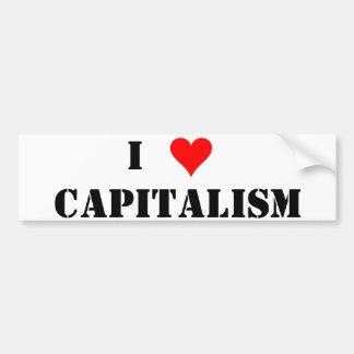 I (ハートの)資本主義 バンパーステッカー