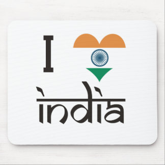 "I ""ハート""インド- I愛インド マウスパッド"