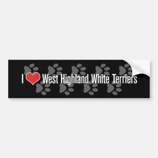 I (ハート)ウエスト・ハイランド・ホワイト・テリア バンパーステッカー