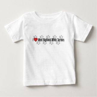 I (ハート)ウエスト・ハイランド・ホワイト・テリア ベビーTシャツ