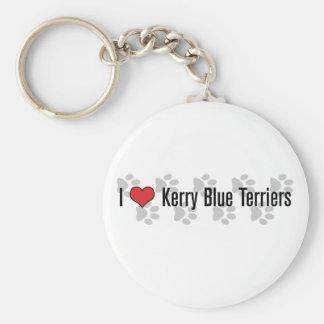 I (ハート)ケリーの青テリア キーホルダー