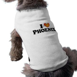 I (ハート)フェニックス-犬のTシャツ ペット服