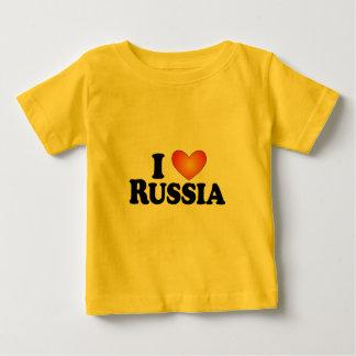 I (ハート)ロシア-ライト数々のプロダクト ベビーTシャツ