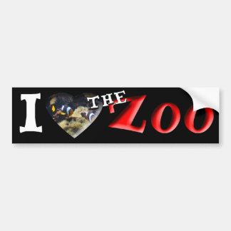 I (ハート)動物園(ピエロの魚) バンパーステッカー