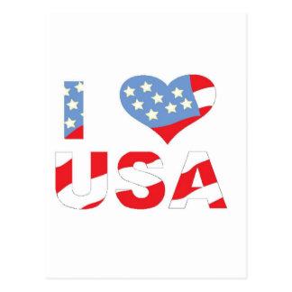 I (ハート)愛米国 ポストカード