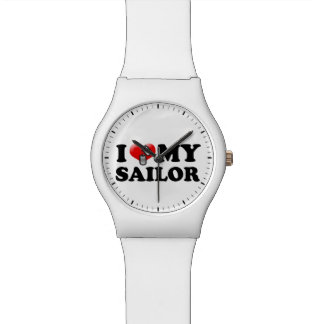I (ハート)私の船員 腕時計