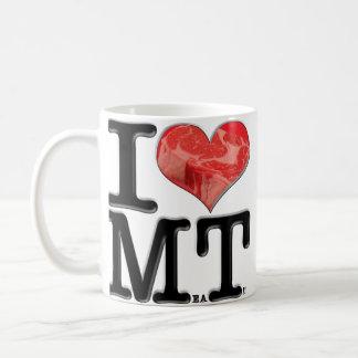 I (ハート)肉 コーヒーマグカップ