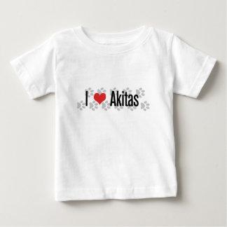 I (ハート) Akitas ベビーTシャツ