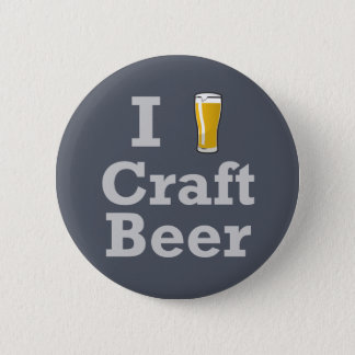 I [ビール]技術ビール 5.7CM 丸型バッジ