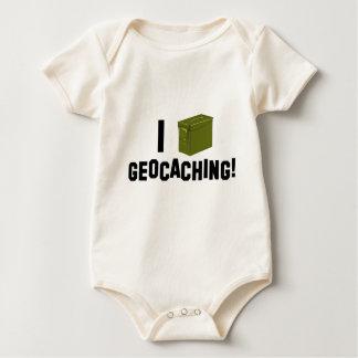 I (弾薬はできます) Geocaching! ベビーボディスーツ