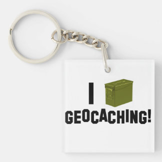 I (弾薬はできます) Geocaching Keychain キーホルダー