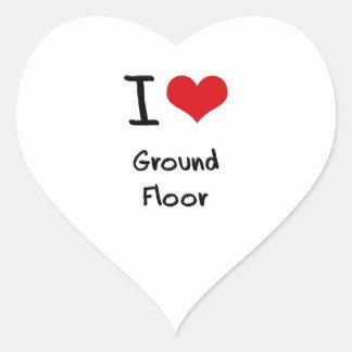 I|愛|地面|床 ハート形シールステッカー
