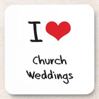 I 愛 教会 結婚式 コースター