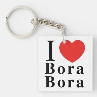 I [愛] Bora Borak/Mt Otemanu Keychain キーホルダー
