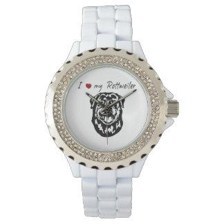 I ❤私のロットワイラーの単語及び美しいグラフィック! 腕時計