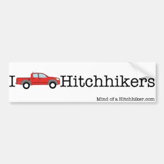 I [積み込みの]ヒッチハイカー バンパーステッカー
