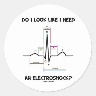 |I|見て下さい|のように|必要性|Electroshockか。|EKG|ECG 丸形シール・ステッカー