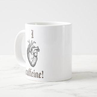 I (解剖ハートの)カフェイン ジャンボコーヒーマグカップ