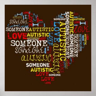 I❤️誰か自閉症ポスター ポスター