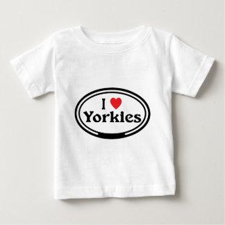 I <3ヨークシャーテリア ベビーTシャツ