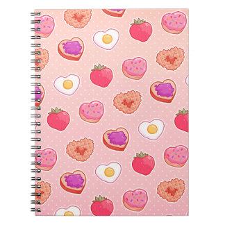 I <3朝食のノート ノートブック