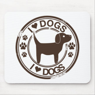 I <3犬 マウスパッド