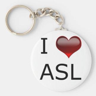 I <3 ASL キーホルダー