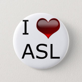 I <3 ASL 缶バッジ