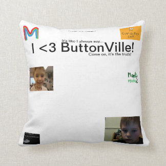 I <3 ButtonVilleの枕 クッション
