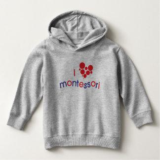 I <3 Montessoriの幼児のスエットシャツ パーカ