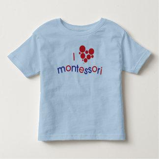 I <3 Montessoriの幼児のティー トドラーTシャツ