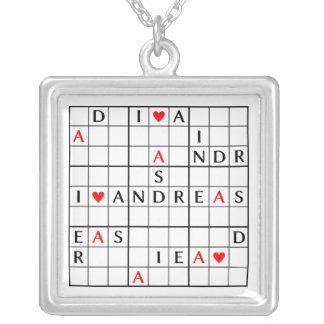 I♥ANDREAS シルバープレートネックレス